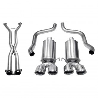Corsa® - Xtreme™ 304 SS Exhaust System with Quad Rear Exit