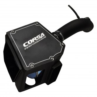 Corsa® - Closed Box Plastic Black Cold Air Intake System with Donaldson PowerCore® Blue Filter