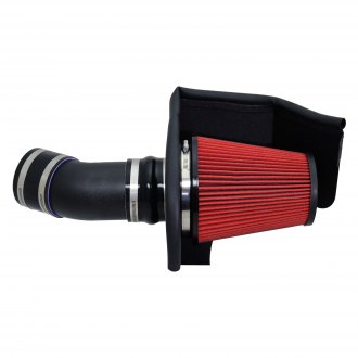 Corsa® - APEX Series Shielded Box Steel Wrinkle Black Cold Air Intake System