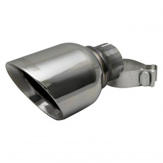 Corsa® - Pro-Series 304 SS Round Angle Cut Clamp-On Single Exhaust Tip