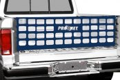 Image may not reflect your exact vehicle! Covercraft® - Pro Net™ Original Performance Blue Tailgate Net