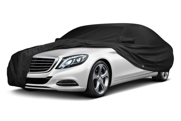 Image may not reflect your exact vehicle! Covercraft® - Fleeced Satin Custom Black Car Cover