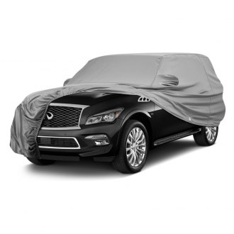 Covercraft® - Fleeced Satin Custom Gray Car Cover
