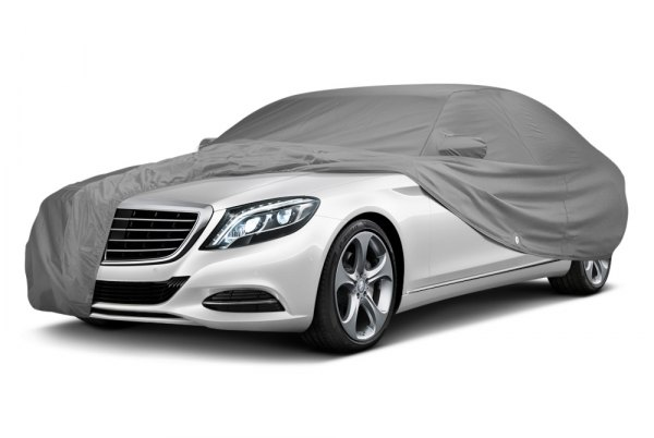 Image may not reflect your exact vehicle! Covercraft® - Fleeced Satin Custom Gray Car Cover