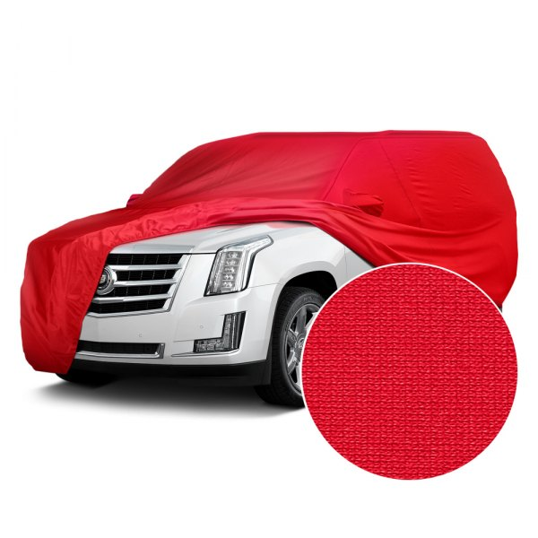 Image may not reflect your exact vehicle! Covercraft® - Fleeced Satin Custom Red Car Cover