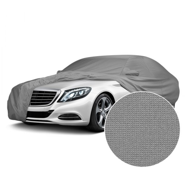 Covercraft® - Fleeced Satin Gray Custom Car Cover
