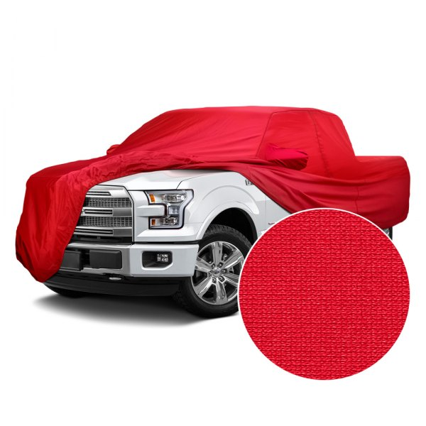 Covercraft® - Fleeced Satin Red Custom Car Cover