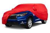 Image may not reflect your exact vehicle! Covercraft® - Form-Fit™ Custom Bright Red Car Cover