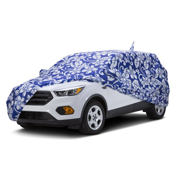 Covercraft® - Grafix Series™ Floral Blue Custom Car Cover