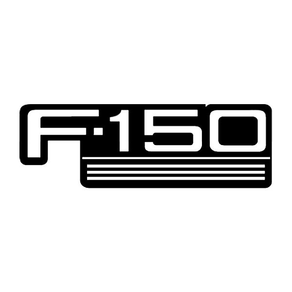 Black And White Ford: Front Silkscreen F-150 Logo