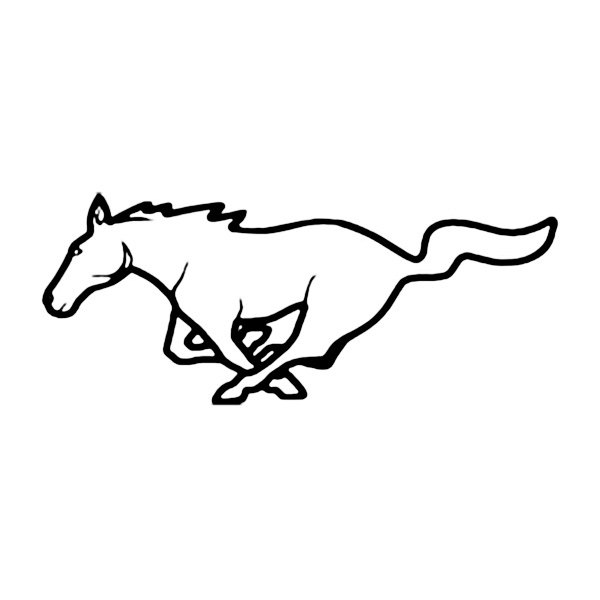 Amazing Horse Mustang Logo Photo With Ford Mustang Logo Outline