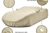 Covercraft® - Tan Flannel Custom Car Cover Features