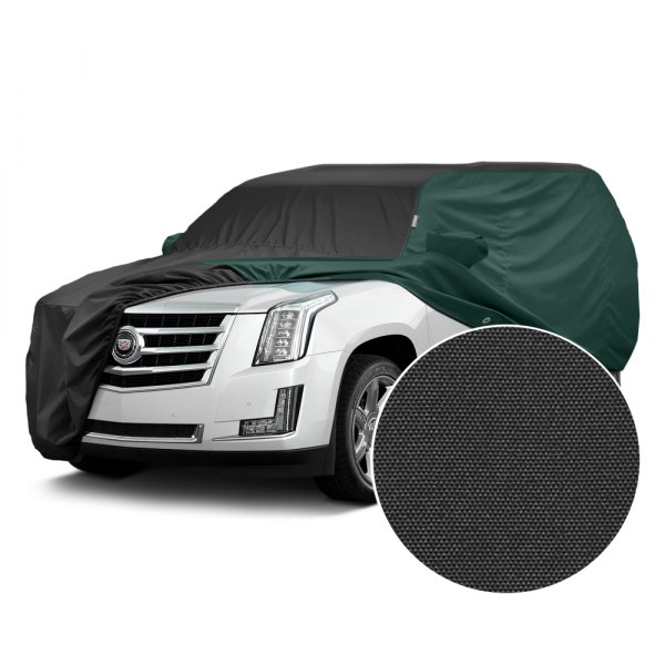Covercraft® - WeatherShield™ HP Two-Tone Custom Car Cover with Black Center and Green Sides