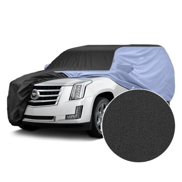 Covercraft® - WeatherShield™ HP Two-Tone Custom Car Cover with Black Center and Light Blue Sides
