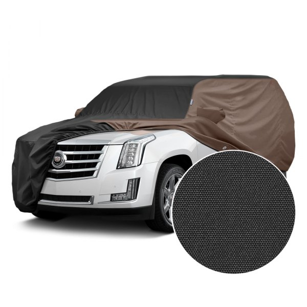 Covercraft® - WeatherShield™ HP Two-Tone Custom Car Cover with Black Center and Taupe Sides
