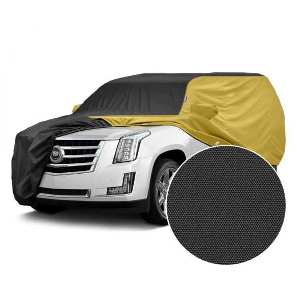 Covercraft® - WeatherShield™ HP Two-Tone Custom Car Cover with Black Center and Yellow Sides