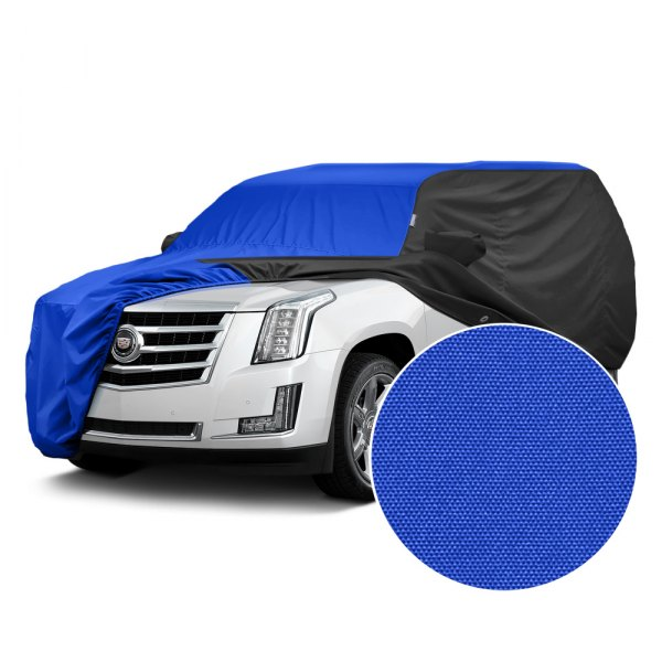 Covercraft® - WeatherShield™ HP Two-Tone Custom Car Cover with Bright Blue Center and Black Sides