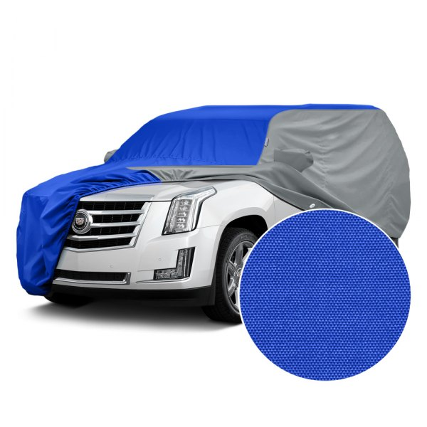 Covercraft® - WeatherShield™ HP Two-Tone Custom Car Cover with Bright Blue Center and Gray Sides