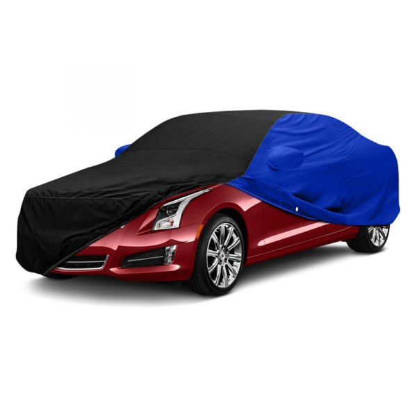 Image may not reflect your exact vehicle! Covercraft® - WeatherShield™ HP Two-Tone Custom Car Cover with Black Center and Bright Blue Sides
