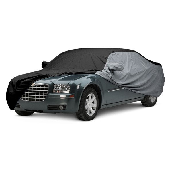 Image may not reflect your exact vehicle! Covercraft® - WeatherShield™ HP Two-Tone Custom Car Cover with Black Center and Gray Sides