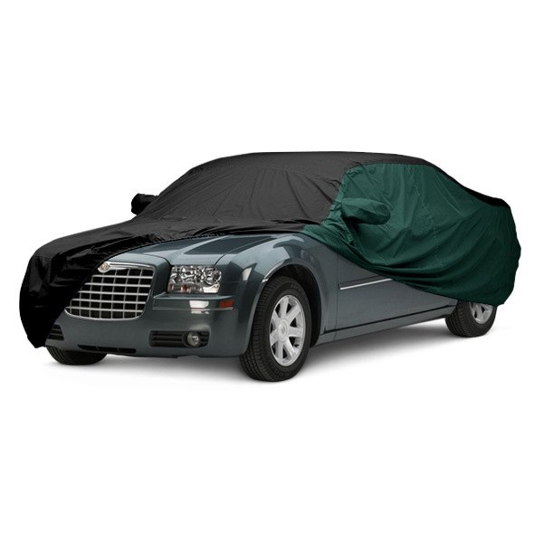 Image may not reflect your exact vehicle! Covercraft® - WeatherShield™ HP Two-Tone Custom Car Cover with Black Center and Green Sides