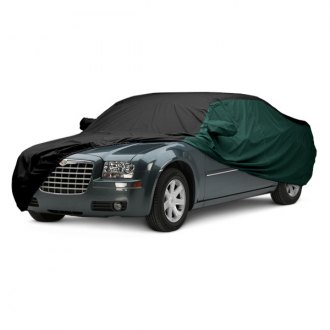 Covercraft® - WeatherShield™ HP Two-Tone Custom Black Car Cover with Green Sides