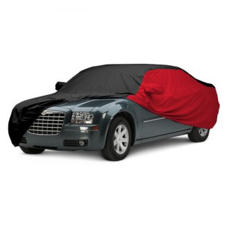 Covercraft® - WeatherShield™ HP Two-Tone Custom Black Car Cover with Red Sides