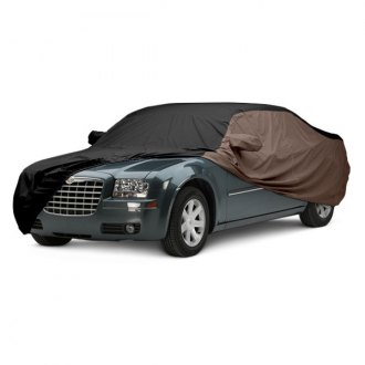 Covercraft® - WeatherShield™ HP Two-Tone Custom Black Car Cover with Taupe Sides
