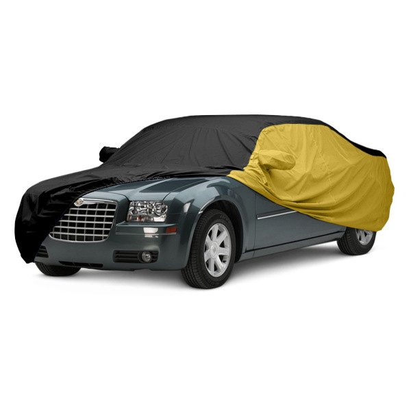 Image may not reflect your exact vehicle! Covercraft® - WeatherShield™ HP Two-Tone Custom Car Cover with Black Center and Yellow Sides