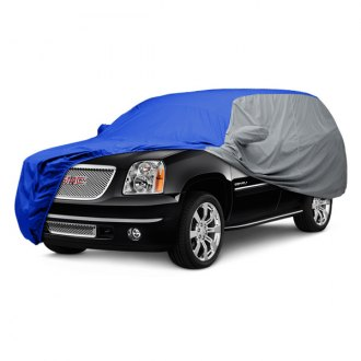 Covercraft® - WeatherShield™ HP Two-Tone Custom Bright Blue Car Cover with Gray Sides