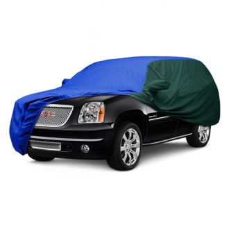 Covercraft® - WeatherShield™ HP Two-Tone Custom Bright Blue Car Cover with Green Sides