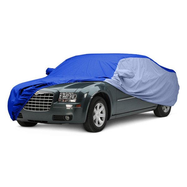 Image may not reflect your exact vehicle! Covercraft® - WeatherShield™ HP Two-Tone Custom Car Cover with Bright Blue Center and Light Blue Sides
