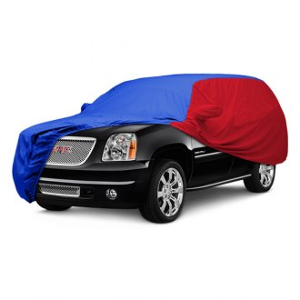 Covercraft® - WeatherShield™ HP Two-Tone Custom Bright Blue Car Cover with Red Sides