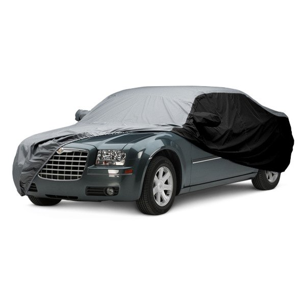 Image may not reflect your exact vehicle! Covercraft® - WeatherShield™ HP Two-Tone Custom Car Cover with Gray Center and Black Sides