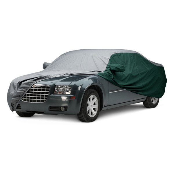 Image may not reflect your exact vehicle! Covercraft® - WeatherShield™ HP Two-Tone Custom Car Cover with Gray Center and Green Sides