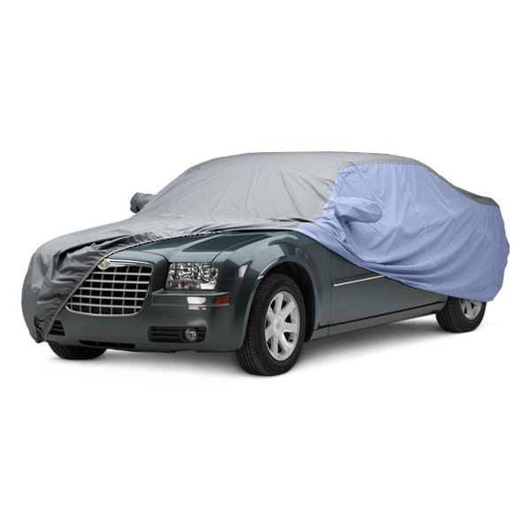 Image may not reflect your exact vehicle! Covercraft® - WeatherShield™ HP Two-Tone Custom Car Cover with Gray Center and Light Blue Sides