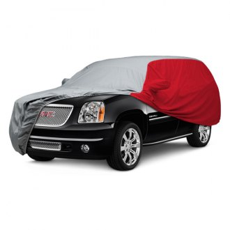 Covercraft® - WeatherShield™ HP Two-Tone Custom Gray Car Cover with Red Sides