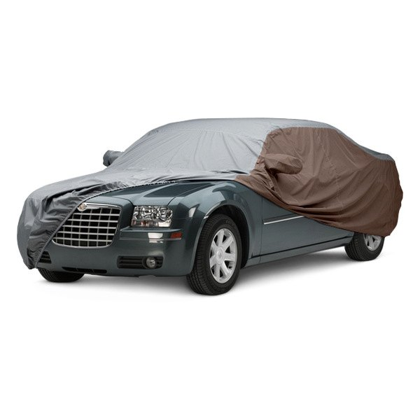Image may not reflect your exact vehicle! Covercraft® - WeatherShield™ HP Two-Tone Custom Car Cover with Gray Center and Taupe Sides