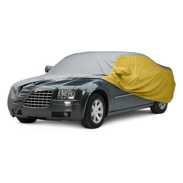 Image may not reflect your exact vehicle! Covercraft® - WeatherShield™ HP Two-Tone Custom Car Cover with Gray Center and Yellow Sides