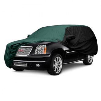 Covercraft® - WeatherShield™ HP Two-Tone Custom Green Car Cover with Black Sides
