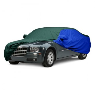 Covercraft® - WeatherShield™ HP Two-Tone Custom Green Car Cover with Bright Blue Sides