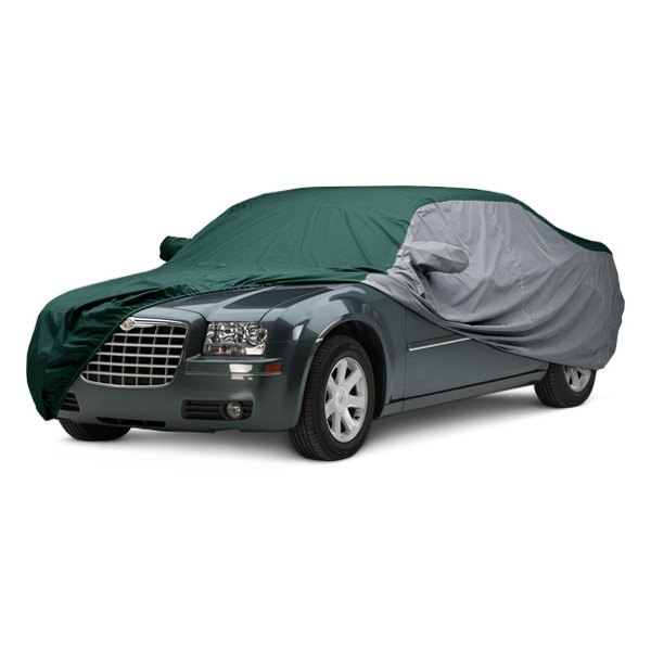 Image may not reflect your exact vehicle! Covercraft® - WeatherShield™ HP Two-Tone Custom Car Cover with Green Center and Gray Sides