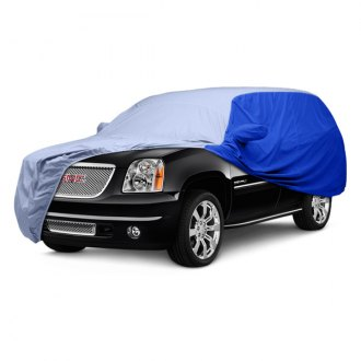 Covercraft® - WeatherShield™ HP Two-Tone Custom Light Blue Car Cover with Bright Blue Sides