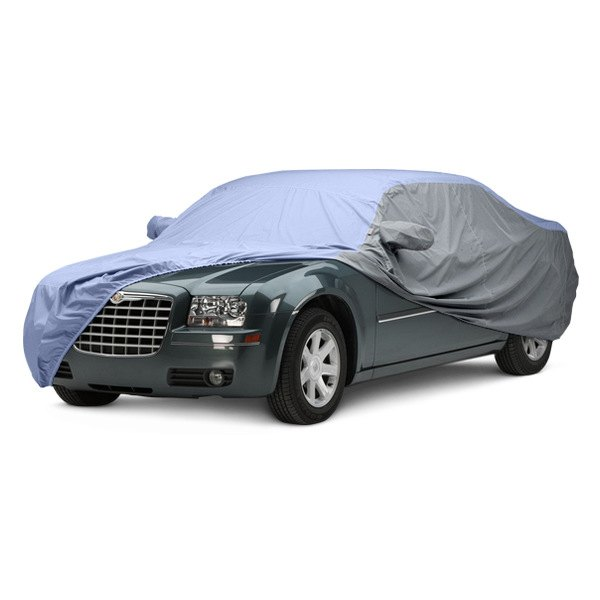 Image may not reflect your exact vehicle! Covercraft® - WeatherShield™ HP Two-Tone Custom Car Cover with Light Blue Center and Gray Sides