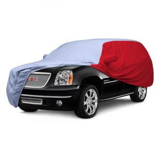 Covercraft® - WeatherShield™ HP Two-Tone Custom Light Blue Car Cover with Red Sides