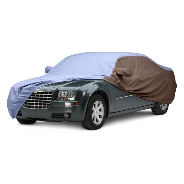 Image may not reflect your exact vehicle! Covercraft® - WeatherShield™ HP Two-Tone Custom Car Cover with Light Blue Center and Taupe Sides