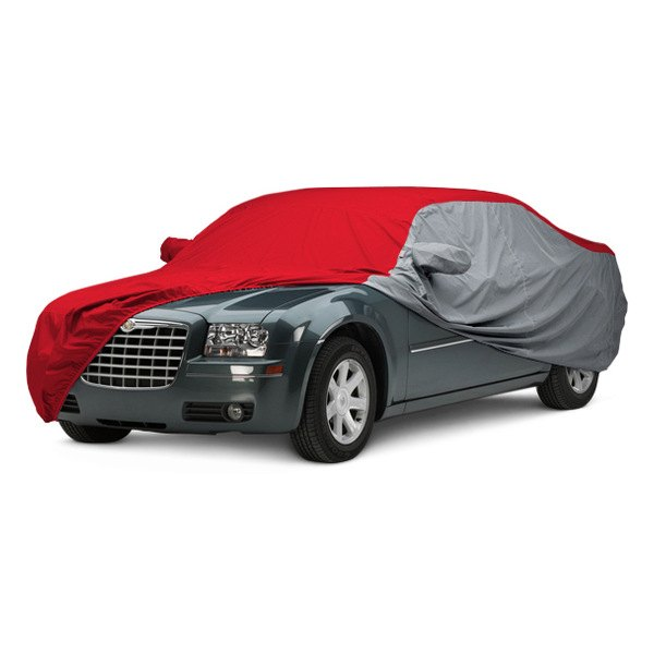 Image may not reflect your exact vehicle! Covercraft® - WeatherShield™ HP Two-Tone Custom Car Cover with Red Center and Gray Sides