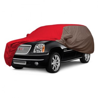 Covercraft® - WeatherShield™ HP Two-Tone Custom Red Car Cover with Taupe Sides