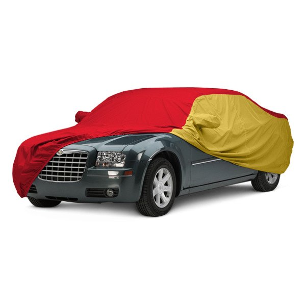 Covercraft® - WeatherShield™ HP Two-Tone Custom Car Cover with Red Center and Yellow Sides