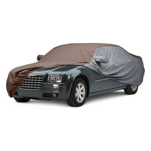 Image may not reflect your exact vehicle! Covercraft® - WeatherShield™ HP Two-Tone Custom Car Cover with Taupe Center and Gray Sides